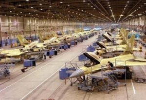 manufacturing shop of F-16 fighter