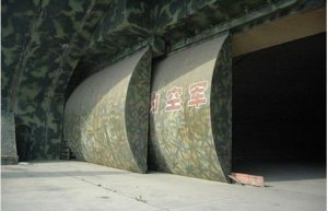 Entrance of an underground air base of China