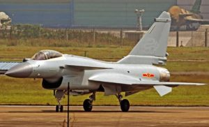 J-10B fighter with homemade WS engine in test flight