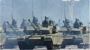 New type 99 tanks on 9/3 Chinese military parade