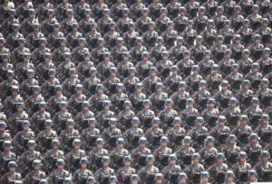 Soldiers on 9/3 military parade of China