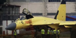 J-11 figher with new radome 1