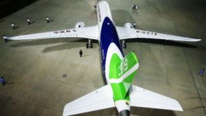 The first C919 rolls out