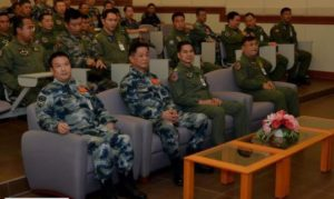 China's and Thailand's air force officers