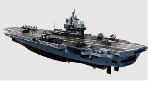 Conception of China's nuclear-powered aircraft carrier