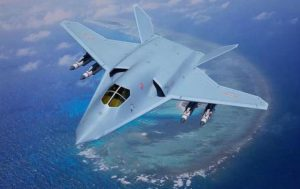Conception of China's stealth strategic bomber
