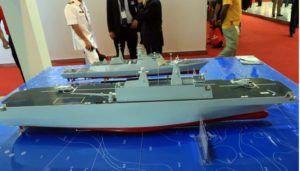 china's model of straight-deck amphibious assault ship