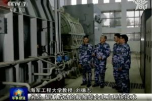 Chinese naval vessel propulsion technology
