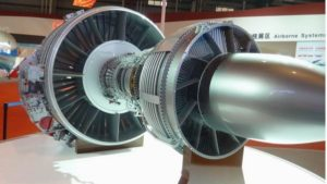 Model of turbofan engine for large planes on Zhuhai Aviation Show