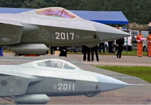 Number 2017 J-20 fighter uses golden cockpit canopy