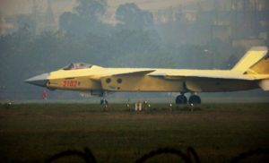 Number 2102 J-20 stealth fighter