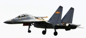 J-16 fighter with formal coating