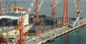 China's homemade aircraft carrier under construction